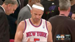 In November, Jason Kidd's age showed.  Though his 3's were still dropping, he began wearing his headband all crooked.