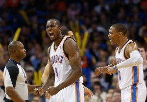 Westbrook should be applauding everyone on OKC, as he's shooting 42.5% this year.  photo courtesy of yahoo.com