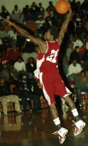 Patrick Beverly in a high-school slam competition in 2005.