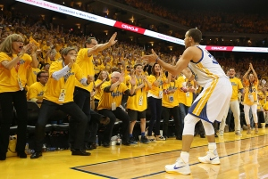 Steph Curry has everyone in the Bay Area clapping lately.