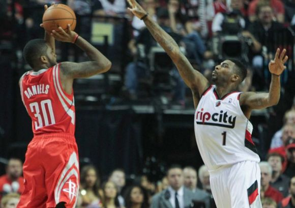 Troy Daniels of the Rockets demands the attention of defenders and fans alike.