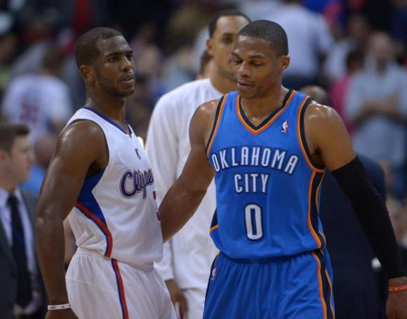 Chris Paul and Russell Westbrook, two of the NBA's most electric play-makers.