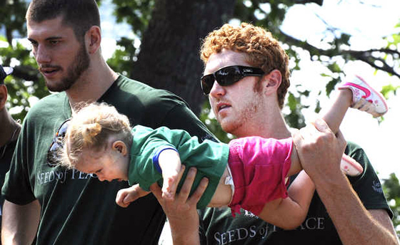 Scalabrine has always excelled at holding babies.