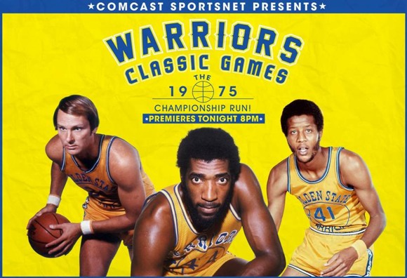 Rick Barry, Clifford Ray and rookie Jamaal Wilkes.
